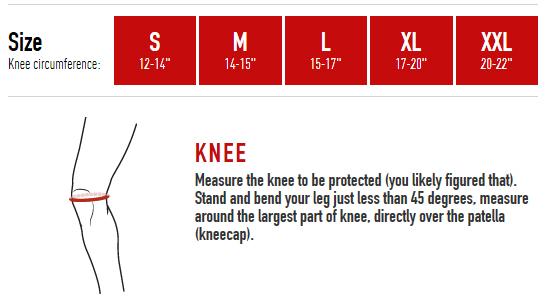 McDavid Knee Size Chart