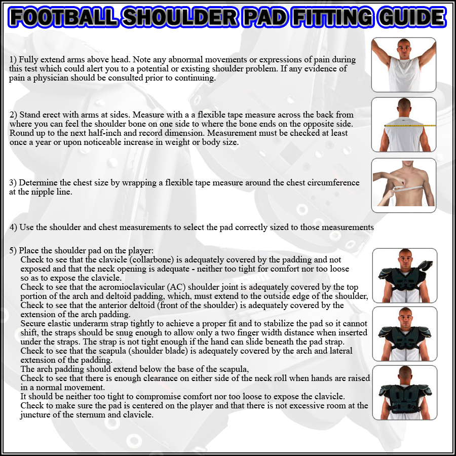 Shoulder Pad fitting guide
