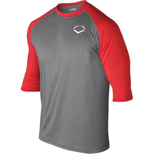 EvoShield Adult 3/4 Sleeve Performance Baseball Shirt