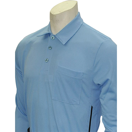 Smitty Major League Style Long Sleeve Umpire Shirt with Piping - Performance Mesh Fabric