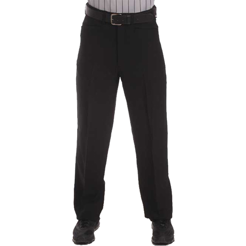 Smitty Men's Basketball Flat Front Officials Pants with Belt Loops - Western Cut Pockets