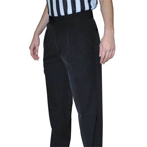 Smitty Women's Basketball Premium 4-Way Stretch Pleated Front Officials Pants - Slash Pockets