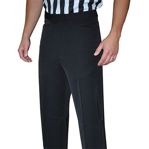 Smitty Men's Basketball Tapered Fit Premium 4-Way Stretch Flat Front Officials Pants - Western Cut Pockets