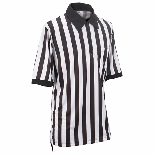 Smitty Football Officials 1-Inch Stripe Warp Knit Shirt - Short Sleeve
