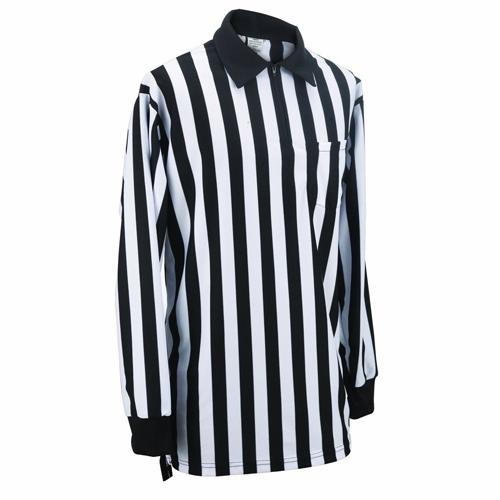 Smitty Football Officials 1-Inch Stripe Warp Knit Shirt - Long Sleeve