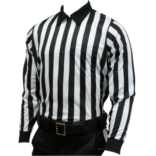 Smitty Football Officials 1-Inch Stripe Heavyweight Shirt - Long Sleeve