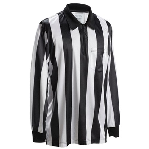 Smitty Football Officials 2-Inch Stripe Elite Knit Shirt - Long Sleeve