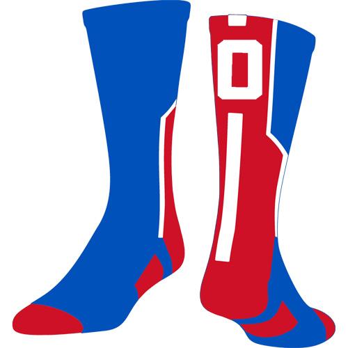 TCK Player ID Sock - Red/Royal/White