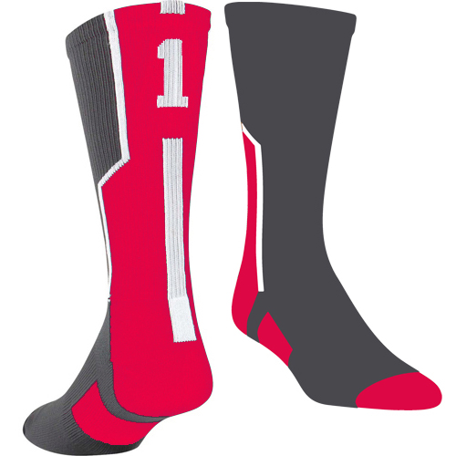 TCK Player ID Sock - Graphite/Red/White