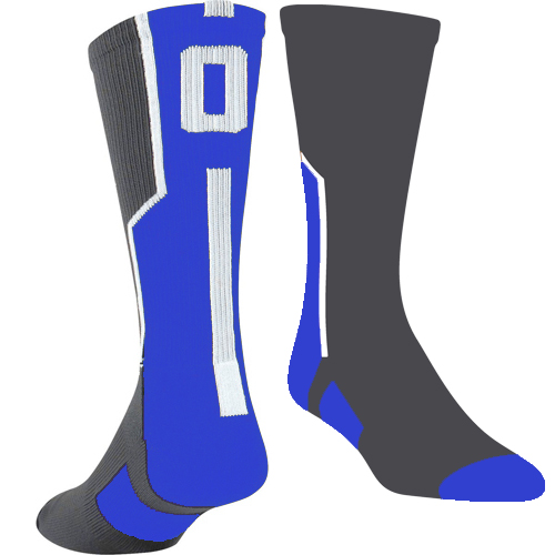 TCK Player ID Sock - Graphite/Royal/White