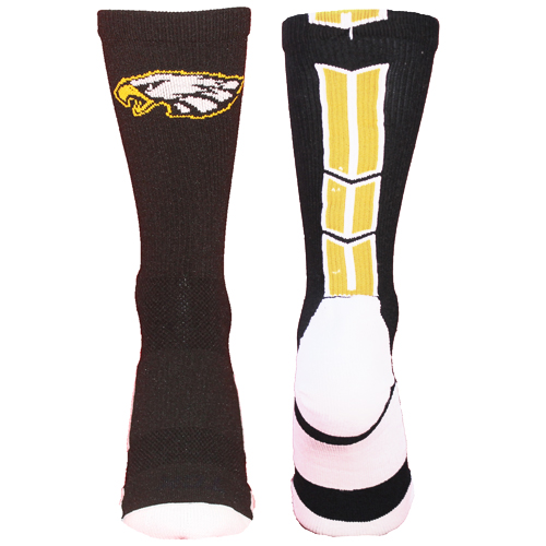 TCK Baseline 3.0 Eagles Logo Athletic Crew Socks (Multiple Colors Available)