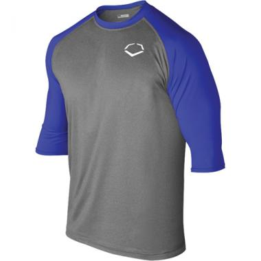 EvoShield Adult 3/4 Sleeve Performance Baseball Shirt