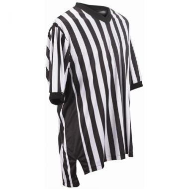 Smitty Basketball Officials Performance Mesh V-Neck Shirt with Side Panel