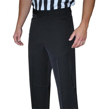 Smitty Men's Basketball Premium 4-Way Stretch Flat Front Officials Pants - Western Cut Pockets