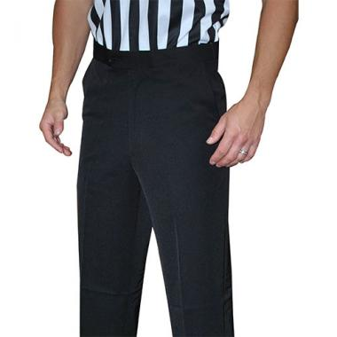 Smitty Men's Basketball Tapered Fit Premium 4-Way Stretch Flat Front Officials Pants - Slash Pockets