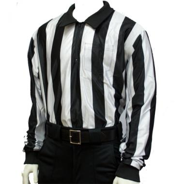 2e734bea2 Smitty Football Officials 2 inch Stripe Hybrid Cold Weather Shirt Smitty