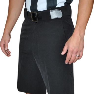 Smitty Football and Lacrosse Officials 4 Way Stretch Shorts - Solid Black