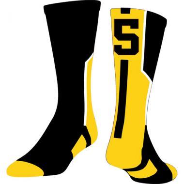 TCK Player ID Sock - Black/Gold/White