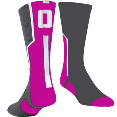 TCK Player ID Sock - Pink/Graphite/White