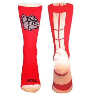 TCK Baseline 3.0 Bulldogs Logo Athletic Crew Socks (Multiple Colors Available)