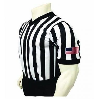 Smitty Basketball Officials Performance Mesh V-Neck Shirt with USA Flag