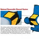 Douglas Custom CP Snapper/Center Shoulder Pads