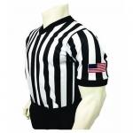 Smitty Basketball Officials Performance Mesh V-Neck Shirt with USA Flag